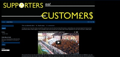 Screenshot supportersnotcustomers.com